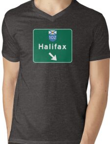 Halifax, Nova Scotia, Road Sign, Canada Mens V-Neck T-Shirt