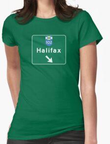 Halifax, Nova Scotia, Road Sign, Canada Womens Fitted T-Shirt