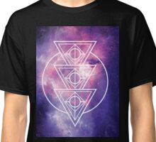 Galaxy with Geometric Design Classic T-Shirt