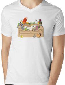 Birblr and Chill Mens V-Neck T-Shirt