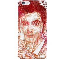 Tenth Doctor Letter Art Brown Rainbow Effect iPhone Case/Skin
