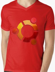 Ubuntu Logo Mens V-Neck T-Shirt