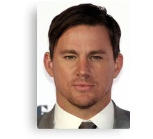 Cool Channing Tatum Face 2 by macyn Canvas Print