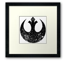 Distressed Rebel Alliance Logo Framed Print