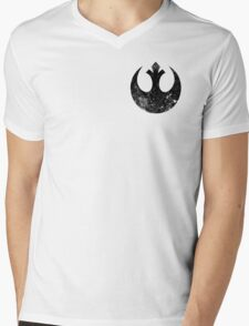 Distressed Rebel Alliance Logo Mens V-Neck T-Shirt