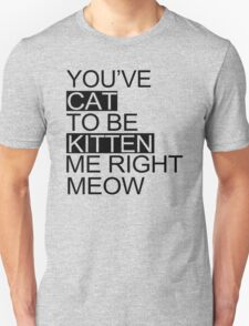 You've Cat To Be Kitten Me Right Meow Funny T-Shirt