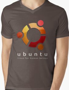Ubuntu - linux for human beings Mens V-Neck T-Shirt
