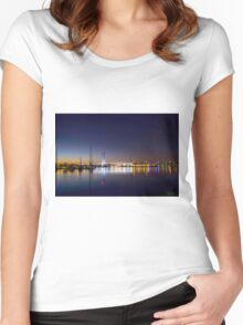 Night Colours of Melbourne Women's Fitted Scoop T-Shirt