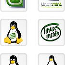 Linux Mint 6 Sticker Set by robbrown