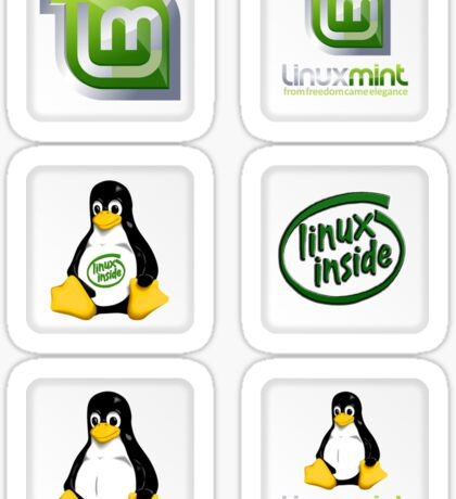 Linux Mint 6 Sticker Set Sticker