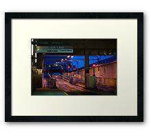 Boston Silver Line Station Framed Print