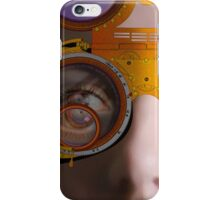 eye as a lens - steampunk variations - detail perspective iPhone Case/Skin