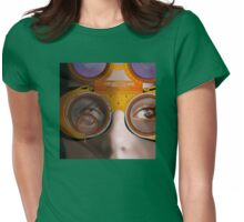 eye as a lens - steampunk variations - detail perspective Womens Fitted T-Shirt