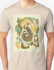 Mother Earth Abstract Illustration Animal Plant Patterns T-Shirt