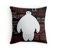 Baymax Quotes Collage Throw Pillow