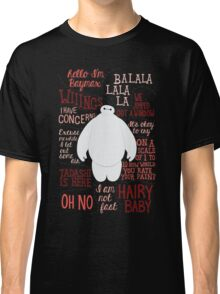 Baymax Quotes Collage Classic T-Shirt