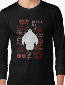 Baymax Quotes Collage Long Sleeve T-Shirt