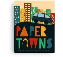 Paper Towns by John Green Book Cover Canvas Print