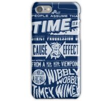 Doctor Who Police Box Quote iPhone Case/Skin