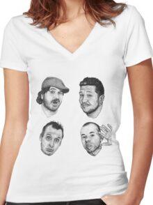 The Tenderloins Women's Fitted V-Neck T-Shirt
