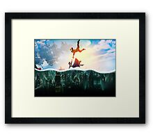 Bioshock Two Worlds Collide Framed Print