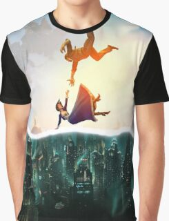 Bioshock Two Worlds Collide Graphic T-Shirt