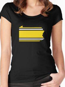 Penn Steel Stripes Women's Fitted Scoop T-Shirt