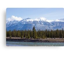 On The Athabasca Canvas Print