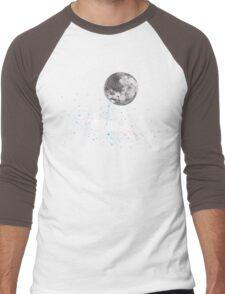 Luna Finds A Drink Men's Baseball ¾ T-Shirt