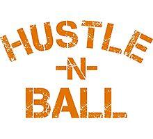 Hustle n Ball - Gold Photographic Print