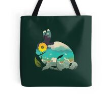 Rabbit Sky (Forest Green) Tote Bag