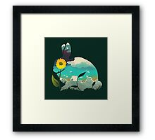 Rabbit Sky (Forest Green) Framed Print