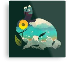 Rabbit Sky (Forest Green) Metal Print