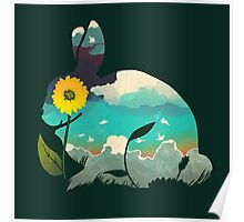 Rabbit Sky (Forest Green) Poster