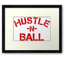 Hustle n Ball - Red Framed Print