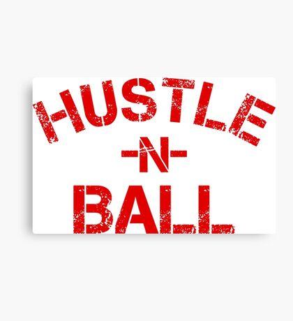 Hustle n Ball - Red Canvas Print