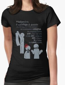 Quotes and quips - Madamina, il catalogo è questo Womens Fitted T-Shirt