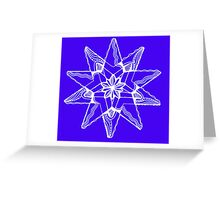 Star Tangles 3 White  - an Aussie Tangle by Heather Greeting Card
