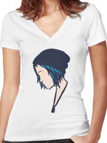Life is Strange - Minimalist Chloe Women's Fitted V-Neck T-Shirt