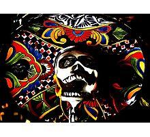 Laughing Dead - Dia de los Muertos Psychedelic Skull Photographic Print