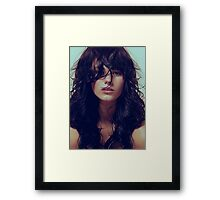 Wisp - natural girl, awesome vintage cool blue, Erotic t-shirt fashion photography Framed Print