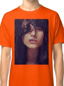Wisp - natural girl, awesome vintage cool blue, Erotic t-shirt fashion photography Classic T-Shirt