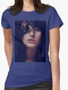 Wisp - natural girl, awesome vintage cool blue, Erotic t-shirt fashion photography T-Shirt