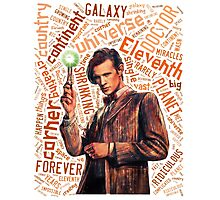 Eleventh Doctor Quote World Art Typography Photographic Print