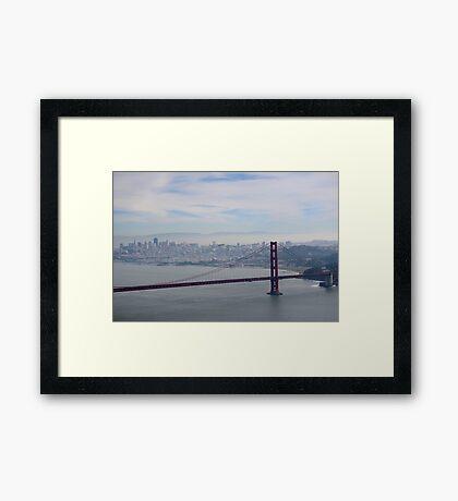 San Francisco skyline - winter 2016 Framed Print