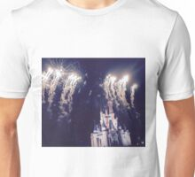 Magic Kingdom Castle With Fireworks Unisex T-Shirt