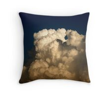 CUMULUS CLOUDS IN HIGH CONTRAST Throw Pillow