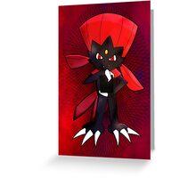 Weavile - Red Greeting Card