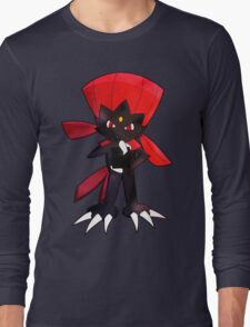 Weavile - Red Long Sleeve T-Shirt