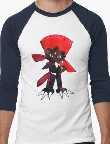 Weavile - Red Men's Baseball ¾ T-Shirt